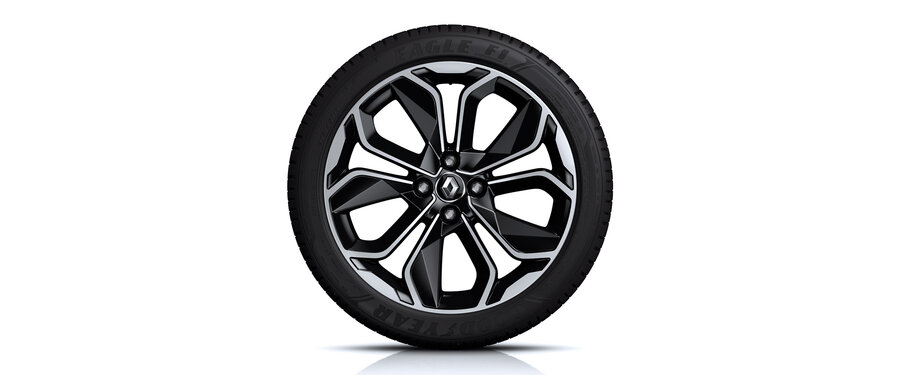 """ Optemic two tone alloy wheels"