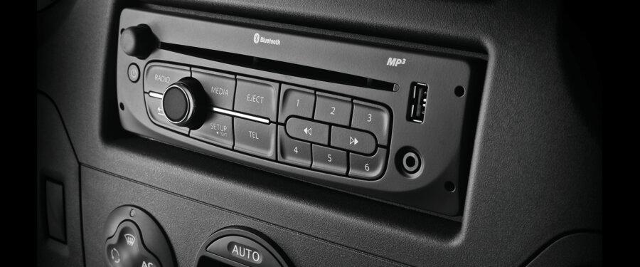 Radio + Bluetooth + Steering Wheel Mounted Controls