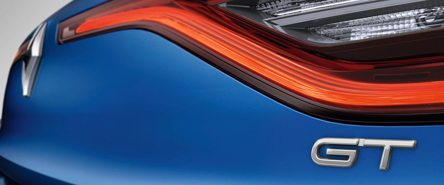LED daytime running lights with D Edge effect